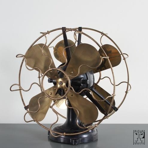 Rare double marelli ventilator from the twenties for Repurpose ceiling fan motor