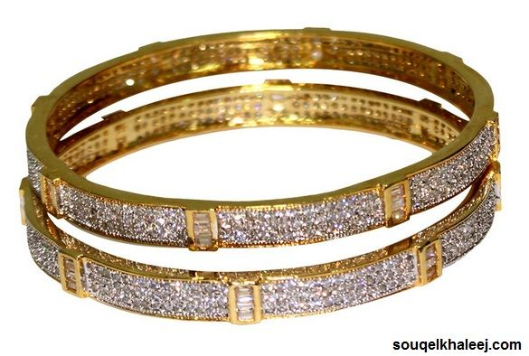Zirconium Stone 18K #GoldPlatedBangles [710088-26] If you want to buy then please click here- http://goo.gl/90FU7b