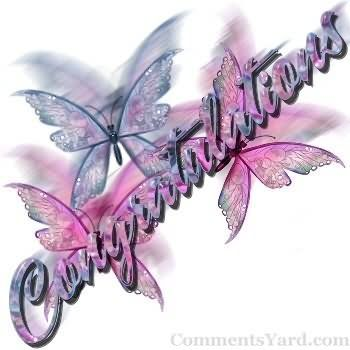 Congratulations Butterfly Graphic