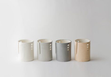 Silo Votive from Up in the Air Somewhere | Dark Grey & Light Grey