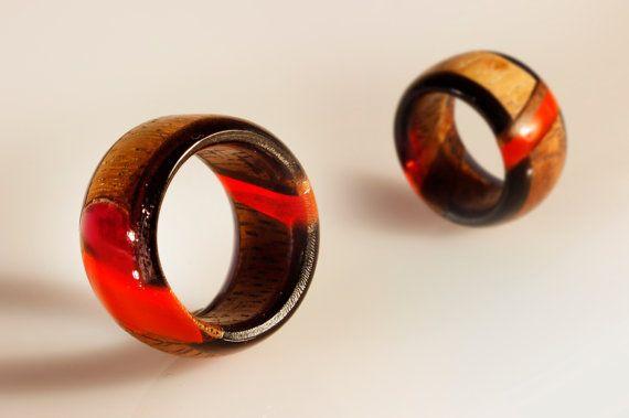 anello fedina gioiello artistico intarsiato di SPhandmadejewelry