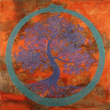 """Saatchi Art Artist Gian Luigi Delpin; Painting, """"ouroboros tree"""" #art"""