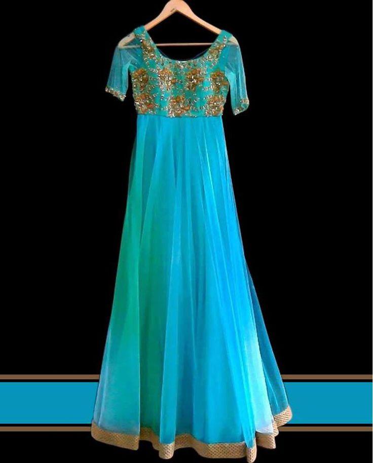 Designer Customized Long Anarkhalis.   Buy Online Anarkali Salwar Suits   Elegant Fashion Wear