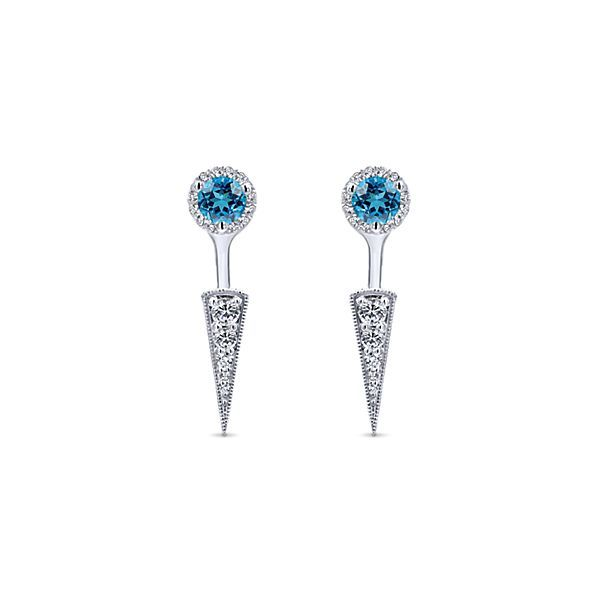 748639c71d818 Gabriel & Co 14k White Gold Peek A Boo Swiss Blue Topz & Diamond ...