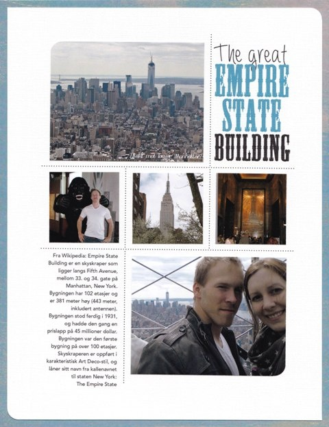 Layout: The great Empire State Building