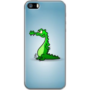 Crocodile By CardVibes for Apple  iPhone 5/5s #TheKase #Cardvibes #Tekenaartje #iPhone #Smartphone #cover #case