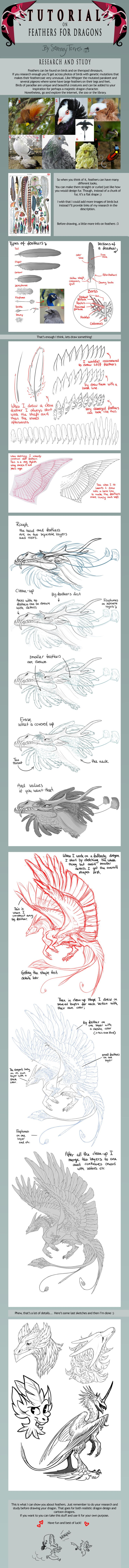 TUTORIAL: Feathers for Dragons by SammyTorres on deviantART
