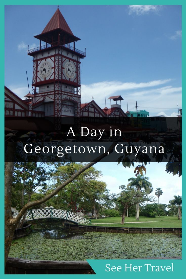 Georgetown, Guyana is a small national capital with a ton of character. A day wandering the streets is the perfect time to experience Georgetown's museums, botanical gardens, St. George's Cathedral, and famous Stabroek Market.
