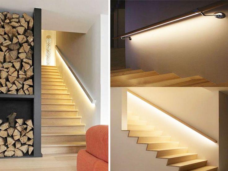 decorar escaleras con luces led