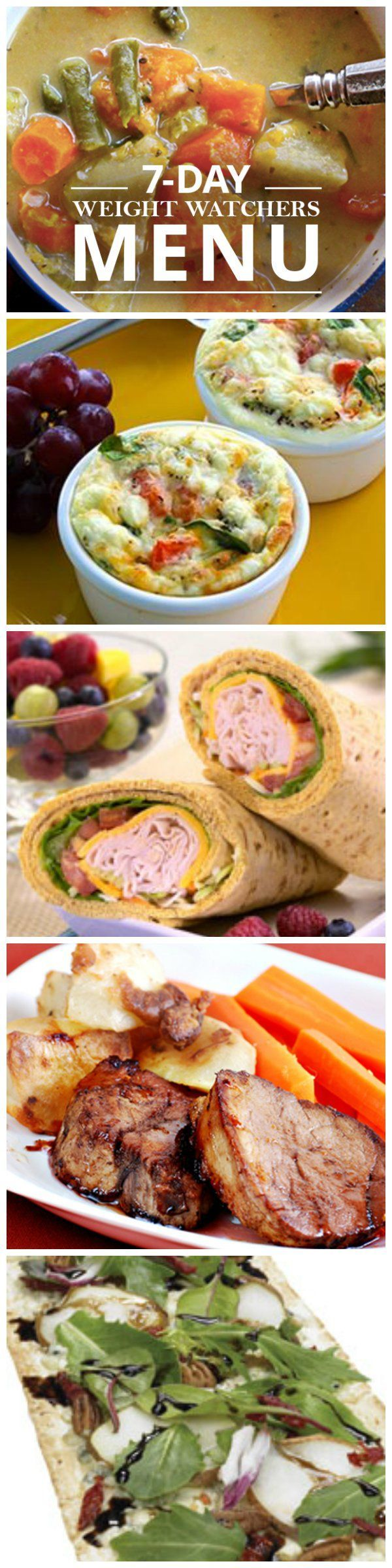 This 7 Day Weight Watchers Menu is AMAZING!  #ww #weightwatchers