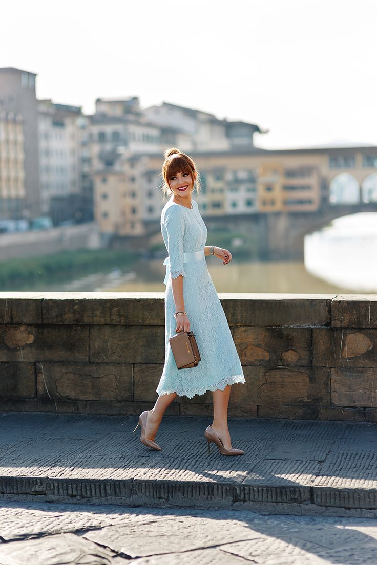 Larisa Costea | the Mysterious Girl Blog. Dainty Jewell's Night in Paris Dress in baby blue.