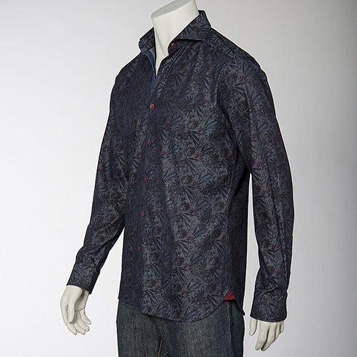 Rewards for Good: Merchandise: Men's Shop: Stone Rose Printed Denim Shirt