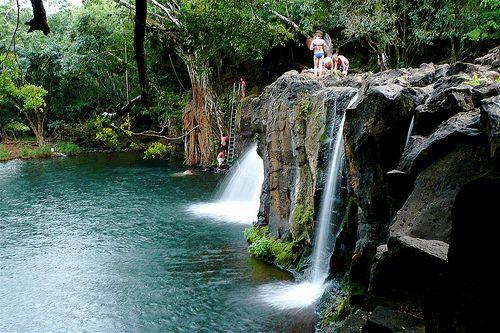 Kipu Falls, Kauai, Hawaii: finally found the name of this place! ✔️
