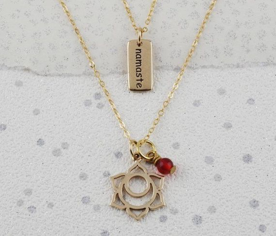 Gold Carnelian Sacral Chakra necklaces, carnelian gemstone, yoga chakra gift set