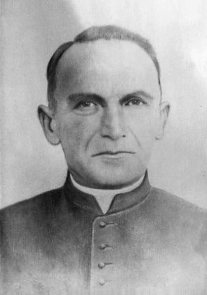 Оmelyan Kovch (1884 — 1944) was a Ukrainian Greek-Catholic priest. In December 30, 1943 he was arrested by the Gestapo for harboring Jews, specifically for providing Jews with more than 600 baptismal certificates. In August 1943 after refusing to sign a pledge about refusing to help others he was deported to Majdanek. On March 25, 1944 he was gassed at Majdanek concentration camp (official cause of death - phlegmon).