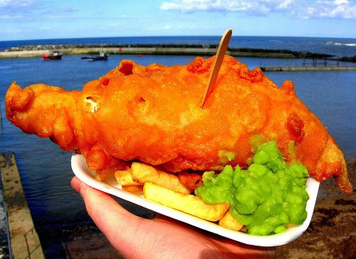 Fish, Chips, Mushy Peas & The Soft Curve Of The Earth by Herschell Hershey, via Flickr