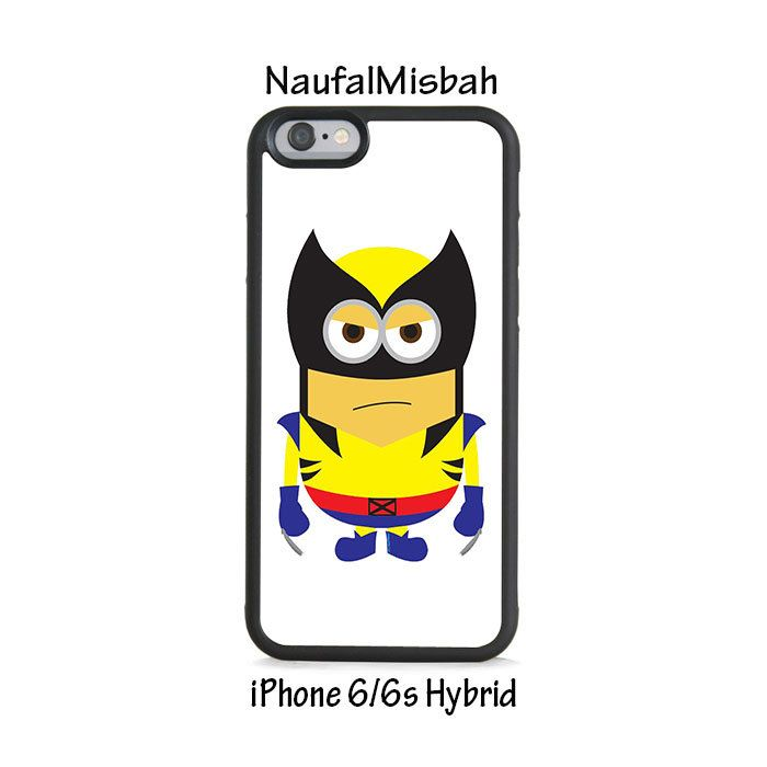 Wolverine Despicable Me Minion iPhone 6/6s HYBRID Case Cover