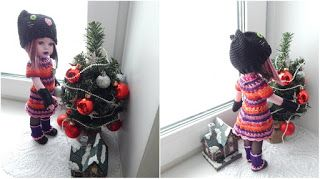 """Вязаный домик.: Новогоднее платье для """"черной кошечки"""" к Старому Новому году."""