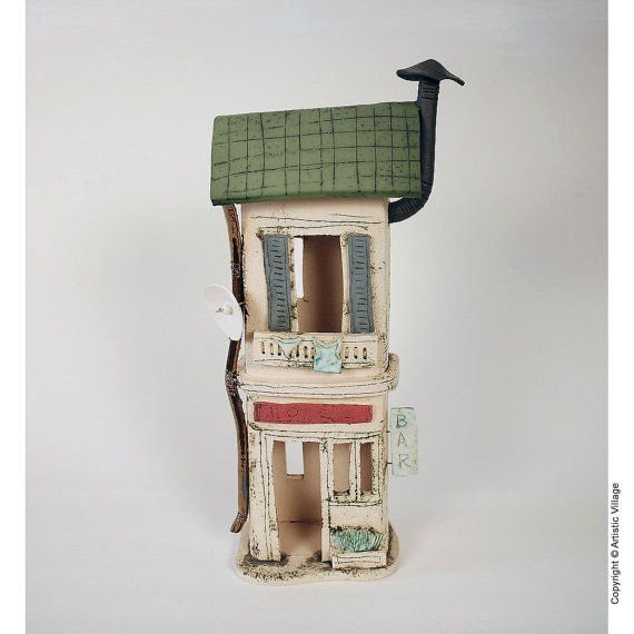 Modern ceramic House 1815 by ArtisticVillage on Etsy