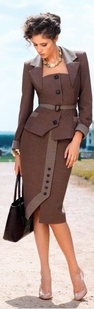 Lovely Skirt Suit in Retro Style <3 - inspiration from blossomgraphicdesign.com #boutiquedesign