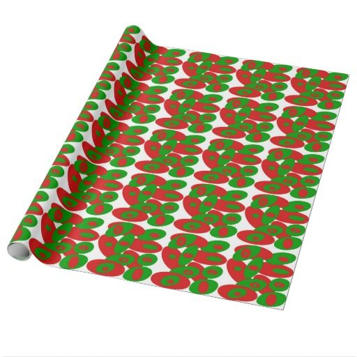 Red and Green Orbs Wrapping Paper. A wink and nod to Christmas without actually being a Christmas design. :-)