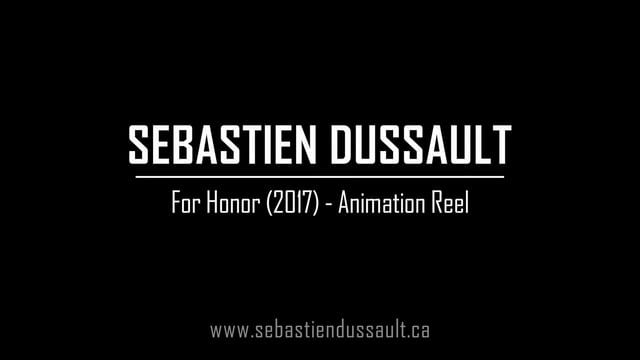 This animation reel is a sample of my work on Ubisoft's For Honor (2017). I was responsible for the animation of all the characters in the shots (Note: I did not animate the horses). The final animations are a combination of highly modified motion capture data and keyframed animation.   Website - sebastiendussault.ca Email - sebastien.dussault@hotmail.com Linkedin Profile - linkedin.com/pub/sebastien-dussault/22/347/73a