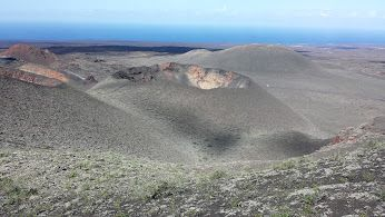 volcano craters in Lanzarote