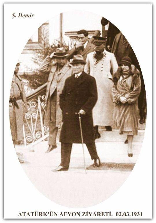 Atatürk Afyon'da. 02.03.1931