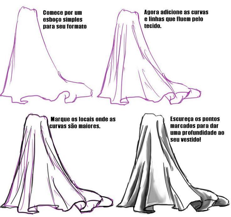 Como Desenhar Vestidos Saias