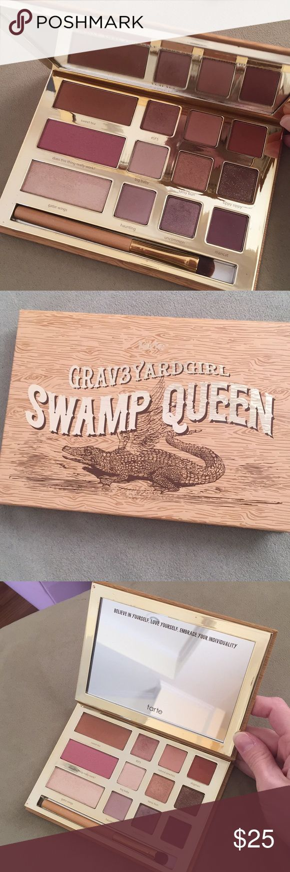 Tarte Graveyard Girl swamp queen palette EUC Used about 2-3 times but I've acquired so much makeup in the last year that this just never gets attention anymore.  Great colors for lots of different looks! tarte Makeup Eyeshadow