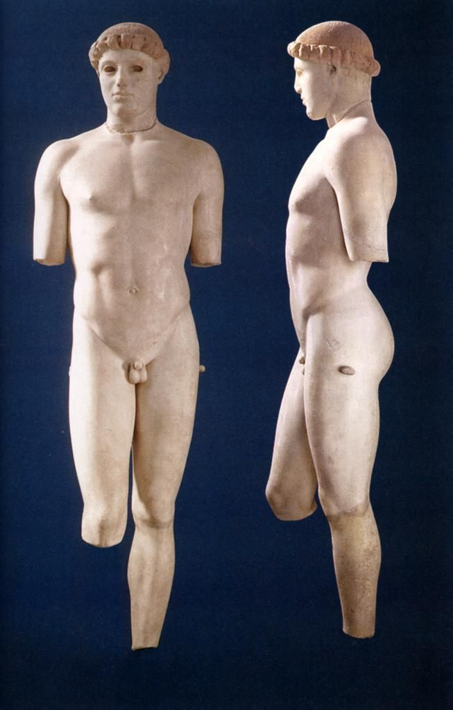 Kritios Boy c. 480 BCE from Acropolis, Athens, Greece//Severe style of classical sculpture