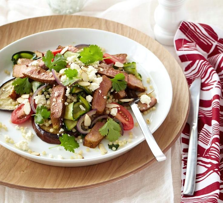 Lamb salad with israeli couscous from www.chelseawinter.co.nz