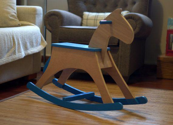 Caballito de madera Wooden rocking horse por MazaidoShop en Etsy