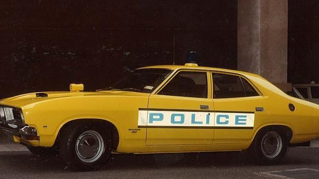 A 1975 Ford Falcon GT. Picture: Victoria Police Museum