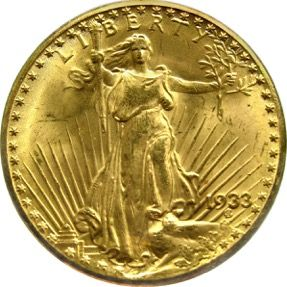 Legenda Double Eagle 1933.  V roce 2002 byl jeden z exemplářů mince Double Eagle 1933 prodán v aukční síni Sotheby´s ve Velké Británii za 7,6 milionů dolarů. #goldcoin