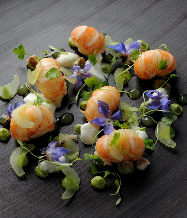 With wonderfully piquant horseradish and the subtle tastes of celery, this langoustines recipe by Adam Simmonds uses a purée of oysters for an additional taste of the sea.