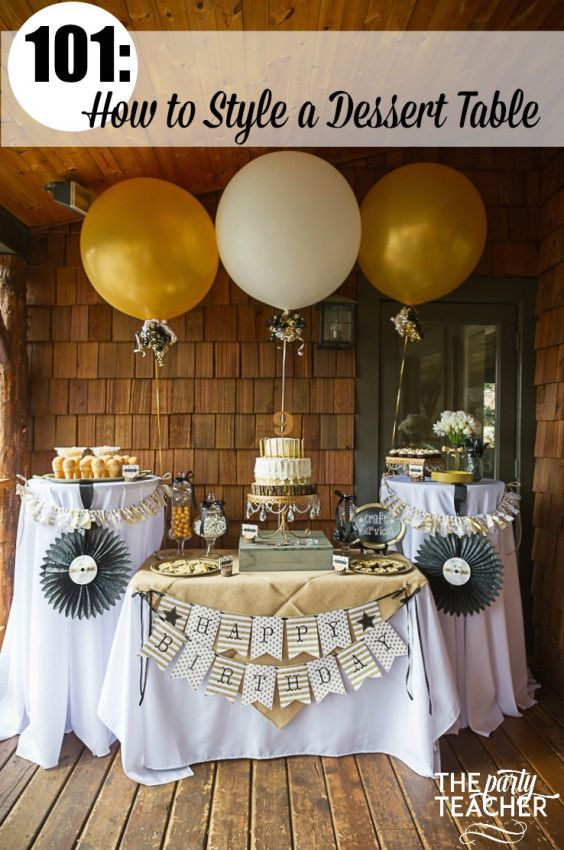 How to Style a Dessert Table - Country Music Awards Party - The Party Teacher | http://thepartyteacher.com/2015/07/22/101-how-to-style-a-dessert-table-part-2-arrange-your-treats/