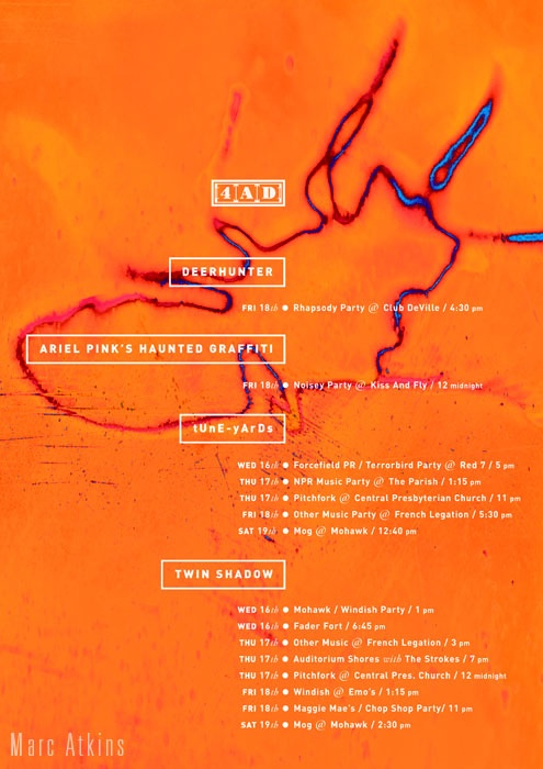 Image by Marc Atkins. Poster. Client 4AD. Design by Vaughan Oliver at v23 and Chris Bigg.