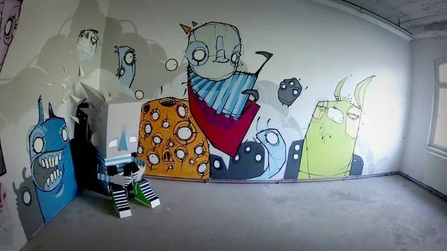 STROKE Urban Art Fair #6 - Munich - may 2012 by Monsta. Here is a part of STROKE.