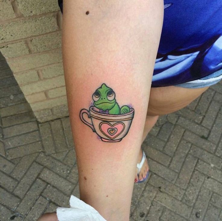 Pascal teacup Disney tattoo