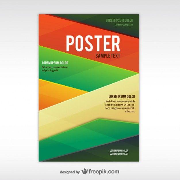 геометрические абстрактные шаблон постера Бесплатные векторы