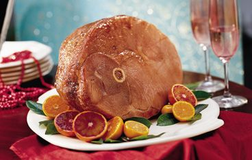 Baked Ham with Balsamic Brown Sugar Glaze (Gluten Free)