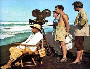 Luís Buñuel filming Robinson Crusoe