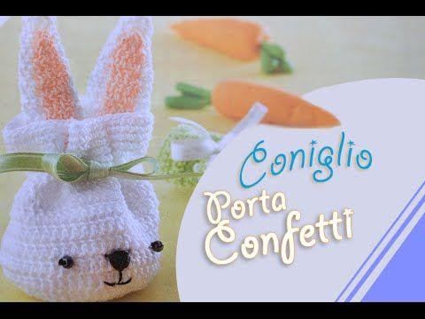 Tutorial coniglio porta confetti sacchetto (rabbit crochet) 1/2 - YouTube