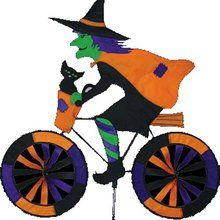 Witch on Bicycle Garden Spinner. Available at OurPamperedHome.com