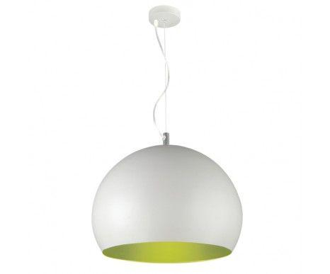 Inside 1 Light Pendant in White/Green