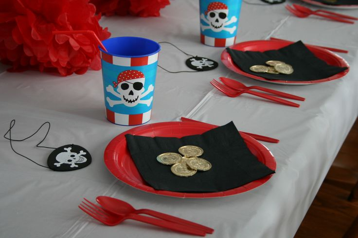 Ready, Set, Party's Pirate package is complete for 8 guests.  You can add more guests if needed.
