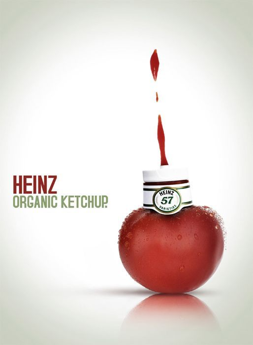 awesome Creative Marketing | Heinz Ketchup Ad - Organic Ketchup #ketchup #heinz #creativ...