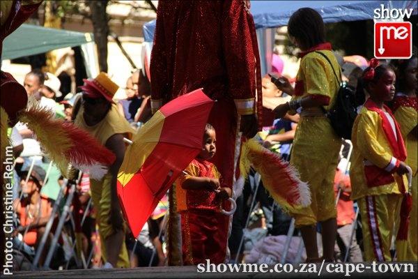 Cute little boy at Cape Town Kaapse Klopse Minstrel Carnival on 02 Jan 2013