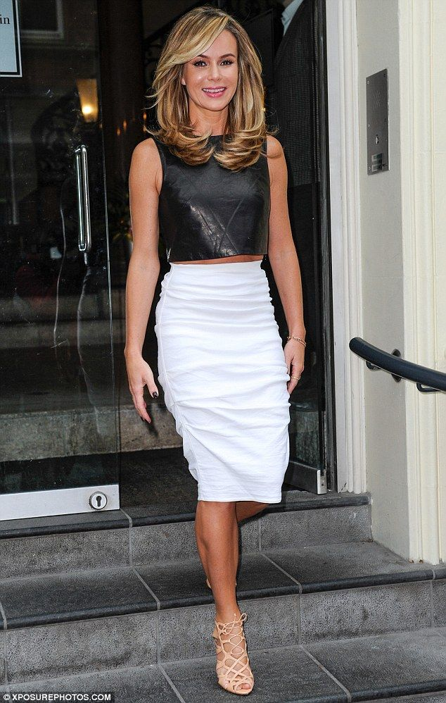 What a star: Amanda Holden left her hotel in Birmingham looking like she's stolen Kim Kardashian's style
